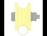 Ролик для ворот капролоновый d 70mm под трубу d 3/4. Артиул Р2707