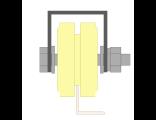 Ролик для ворот капролоновый d 70mm под полосу на платформ. Артикул Р2703