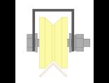 Ролик для ворот капролоновый d 70mm под угол на платформе. Артикул  Р2712