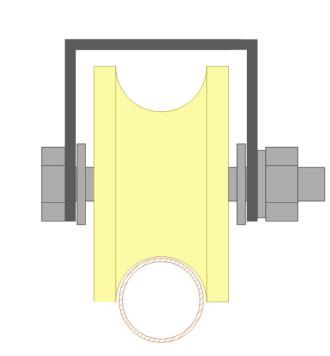 Ролик для ворот капролоновый d 70mm простие отворние ворота для дачи