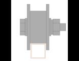Ролик для ворот металлический d 65mm под пр.трубу 20х20 . Артикул Р3604