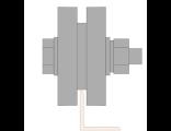 Ролик для ворот металлический d 65mm под полосу . Артикул Р3601