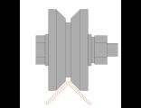 Ролик для ворот металлический d 65mm под угол . Артикул Р3614
