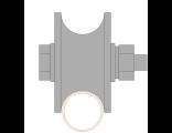 Ролик для ворот металлическийd d 65mm под трубу d 3/4 . Артикул Р3610