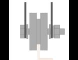 Ролик для ворот металлический d 65mm под полосу на пластинах . Артикул Р3602