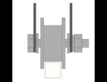 Ролик для ворот металлический d 65mm под пр.трубу на пластинах 20х20 . Артикул Р3605