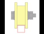 Ролик для ворот капролоновый d 70mm под пр.трубу 20Х20 . Артикул Р2704