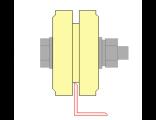 Ролик для ворот капролоновый d 70mm под полосу . Артикул Р2701