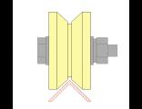Ролик для ворот капролоновый d 70mm под угол. Артикул Р2710
